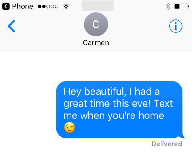 what to text a guy after a date